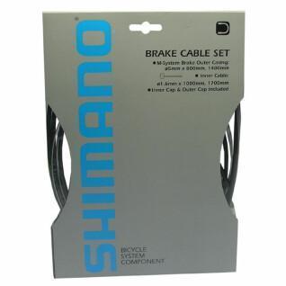 Bremskabel- und Hüllensatz für Vorder- und Hinterrad Shimano