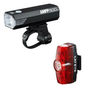 Cateye Ampp 500/Rapid Mini Front- und Rücklicht